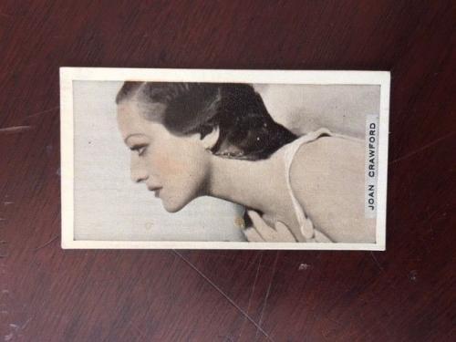 1930's, Joan Crawford, Cigarette Card (Scarce)