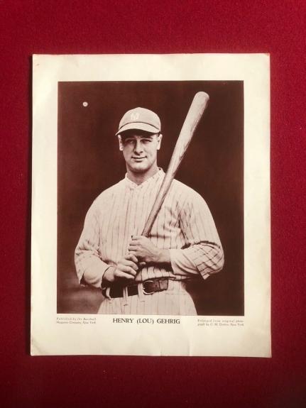 """1930's, Lou Gehrig, 'Baseball Magazine"""" Supplement (Conlon Collection) Scarce"""