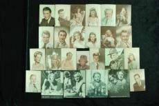 1930s Movie Star Premiums (25) with Humprey Bogart, Clark Gable