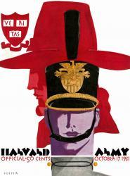1931 Army Black Knights vs Harvard Crimson 22x30 Canvas Historic Football Poster