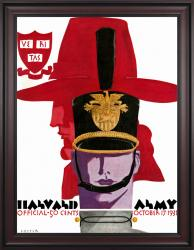 1931 Army Black Knights vs Harvard Crimson 36x48 Framed Canvas Historic Football Poster