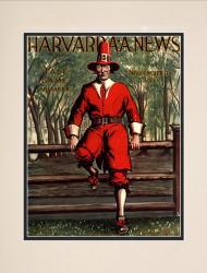 1931 Harvard Crimson vs Yale Bulldogs 10 1/2 x 14 Matted Historic Football Poster