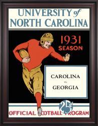 1931 North Carolina Tar Heels vs Georgia Bulldogs 36x48 Framed Canvas Historic Football Poster