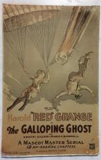 1931 The Galloping Ghost Movie Poster Red Grange