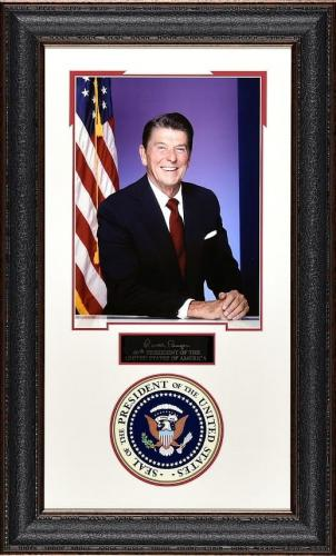 19×31 Ronald Reagan 11×14 Portrait with Presidential Seal