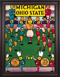 1932 Ohio State Buckeyes vs Michigan Wolverines 36x48 Framed Canvas Historic Football Poster