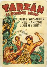 1932 Tarzan the Ape Man, Johnny Weissmuller, 27x41, Orig Spanish Language Poster