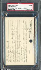1933 Goudey #165 Joe Sewell Original Copyright Patent Proof Registration PSA