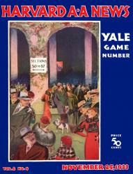 1933 Harvard Crimson vs Yale Bulldogs 22x30 Canvas Historic Football Poster