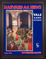 1933 Harvard Crimson vs Yale Bulldogs 36x48 Framed Canvas Historic Football Poster