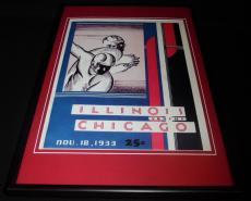 1933 Illinois vs Chicago Football Framed 10x14 Poster Official Repro B