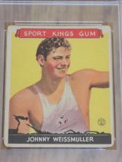 1933 Sport Kings Johnny Weissmuller Card #21 PSA Good 2 Swimming