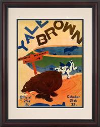 1933 Yale Bulldogs vs Brown Bears 8.5'' x 11'' Framed Historic Football Poster