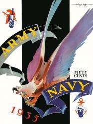 1935 Army Black Knights vs Navy Midshipmen 22x30 Canvas Historic Football Poster