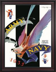 1935 Army Black Knights vs Navy Midshipmen 36x48 Framed Canvas Historic Football Poster