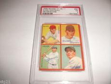 1935 Goudey 4 in 1 9h Kuhel Stone Baseball Card PSA EX5