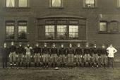 1913 Football Team Cabinet Photo, Excellent Background & Quality
