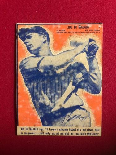 "1936, Joe DiMaggio, ""Wheaties"" Box Panel (Scarce) New York Yankees"