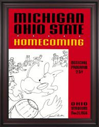 1936 Ohio State Buckeyes vs Michigan Wolverines 36x48 Framed Canvas Historic Football Poster