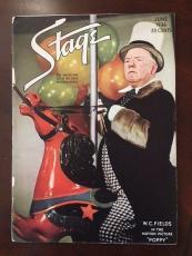 """1936, W.C. Fields, """"Stage"""" Magazine (Scarce)"""