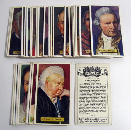 1937 Kensitas Builders of Empire Complete Trading Card Set (50)