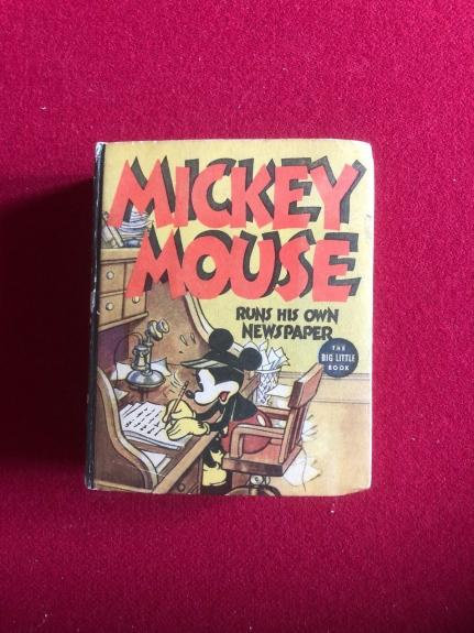 1937, Mickey Mouse, (Walt Disney), Big / Little Book (Scarce)