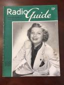 "1938, Lucille Ball ""Radio Guide"" Magazine, (Early Lucy) (Scarce)"