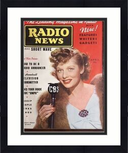 """1938, Lucille Ball, """"RADIO NEWS"""" Magazine (RARE) No Label (Early Lucy!!)"""
