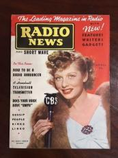 "1938, Lucille Ball, ""RADIO NEWS"" Magazine (RARE) No Label (Early Lucy!!)"