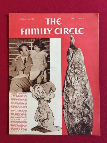 "1938, Walt Disney (DOPEY), ""Family Circle"" Magazine (No Label) Scarce"