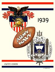 1939 Army Black Knights vs Navy Midshipmen 22x30 Canvas Historic Football Poster