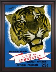 1939 LSU Tigers vs Tennessee Volunteers 36x48 Framed Canvas Historic Football Poster