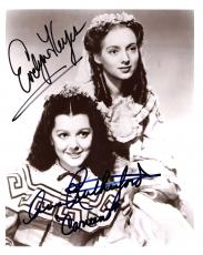 """1939 Movie """"GONE with the WIND"""" Signed by EVELYN KEYES as SUELLEN and ANN RUTHERFORD as CARREEN 8x10 B/W Photo"""