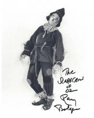 "1939 Movie ""THE WIZARD of OZ"" Signed by RAY BOLGER as HUNK/SCARECROW (Ray Passed Away 1987)  8x10 B/W Photo"