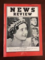 "1939, Queen Elizabeth, ""NEWS REVIEW"" Magazine (No Label) Scarce"