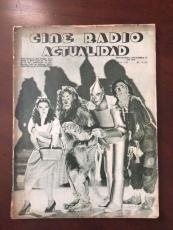 "1939, Wizard of OZ, ""Cine Radio Actualidad"" Magazine (Rare)"