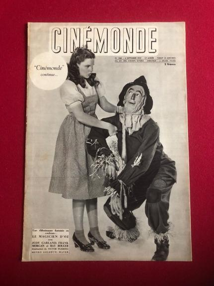 "1939, Wizard of Oz, ""CINEMONDE"" Magazine (RARE)"
