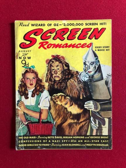 "1939, WIZARD of OZ, ""SCREEN Romances"" Magazine (England Edition) Scarce"
