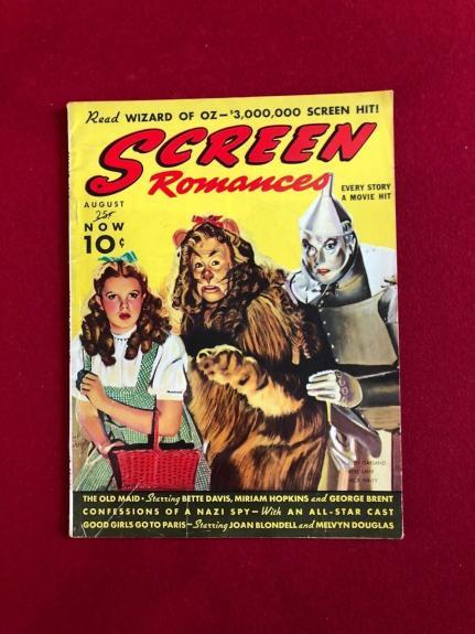 "1939, Wizard of OZ, ""SCREEN Romances"" Magazine (No Label) Scarce"