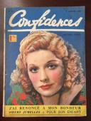 "1940, Lucille Ball ""Confidences"" Oversize Magazine, (Scarce) (Early Lucy)"