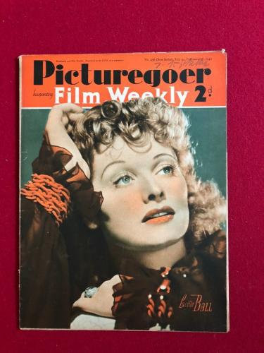 "1940, Lucille Ball, ""Picturegoer"" Magazine (No Label) (Scarce) (I Love Lucy)"