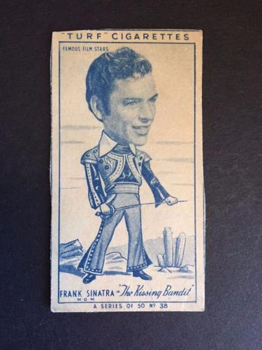 "1940's Frank Sinatra ""Turf Cigarette"" Card"