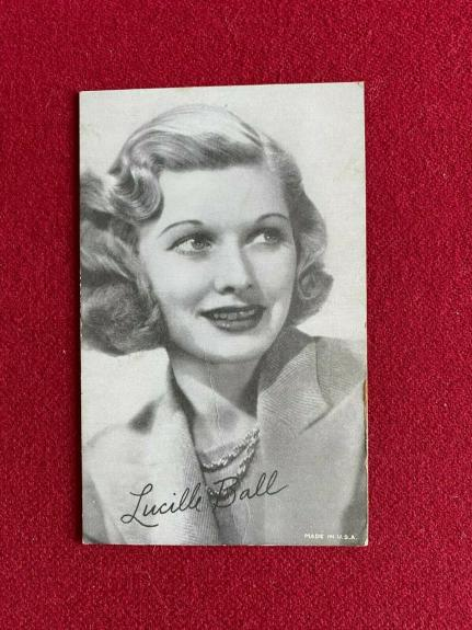 1940's, Lucille Ball, Original Exhibit Card (Scarce / Vintage)