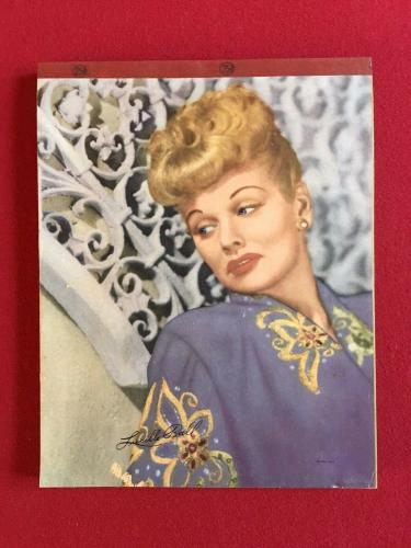 "1940's, Lucille Ball, ""Un-Used"" Writing Tablet (RARE)"