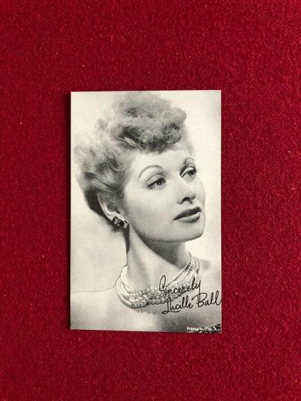 1940's, Lucille Ball Vintage Exhibit Card (Scarce) (I Love Lucy)