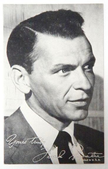 1940's Original Exhibit Frank Sinatra Yours truly Arcade Black & White Card