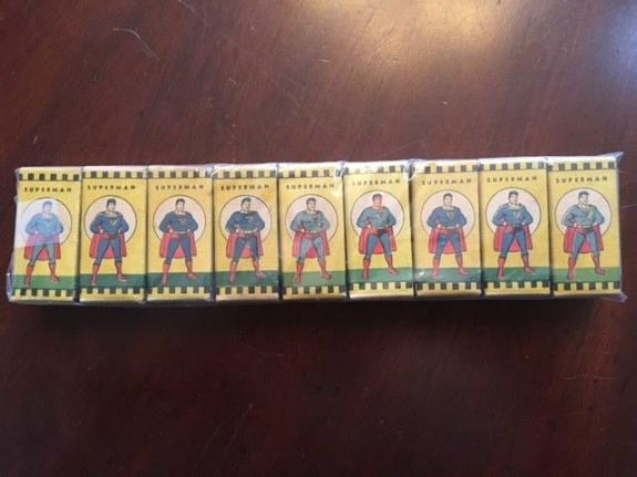 1940's, Superman, (Set of 9) Film Strips.  (Scarce)