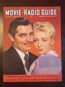 "1941, Clark Gable, ""Movie-Radio Guide"", Oversize Magazine (No Label) Scarce"