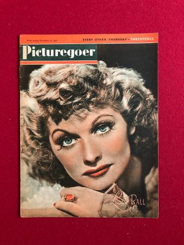 """1941, Lucille Ball, """"Picturegoer"""" Magazine (No Label) (Scarce) (I Love Lucy)"""