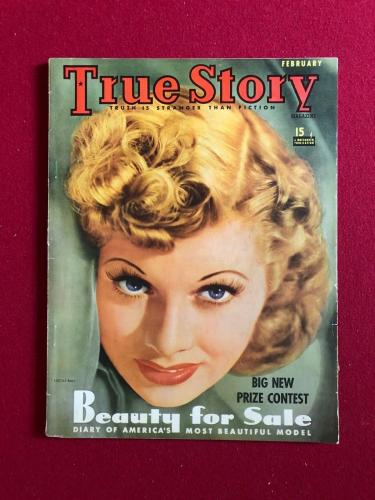 "1941, Lucille Ball, ""True Story"" Magazine (No Label) (Scarce) (I Love Lucy)"